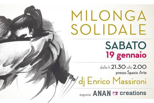 Milonga Solidale Oltretango 19.01.19