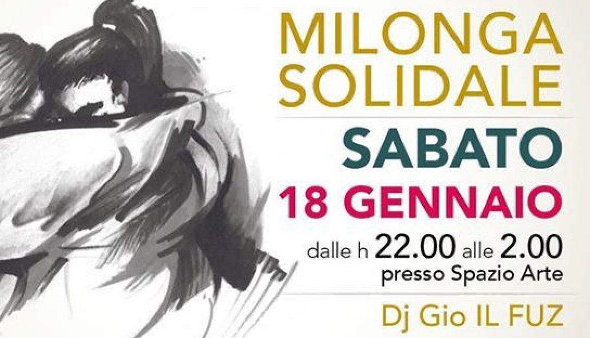 Milonga Solidale Oltretango 18.01.20