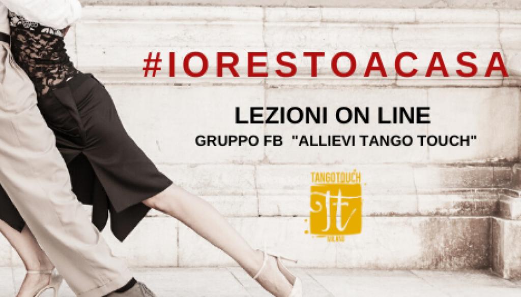 Volantino Lezioni on line Tango Argentino a cura di Tango Touch