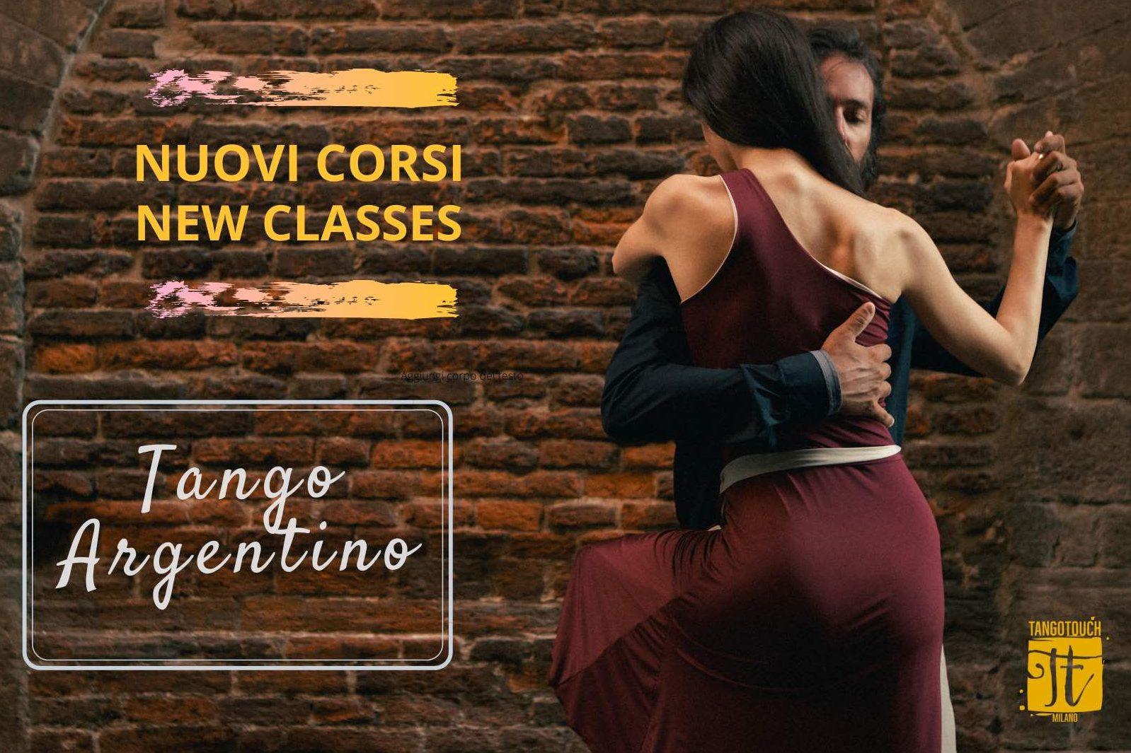 Volantino nuovi corsi di Tango Argentino a cura di Tango Touch